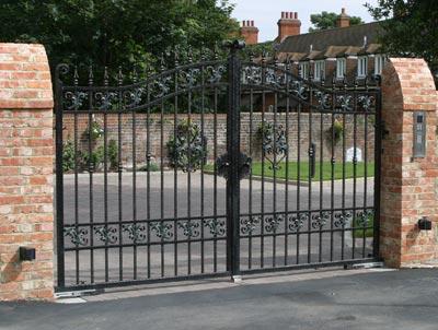 Automated ornate metal gates