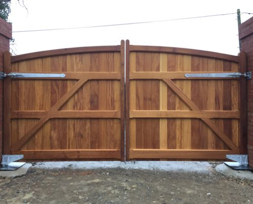 Iroko sherborne gates rear view