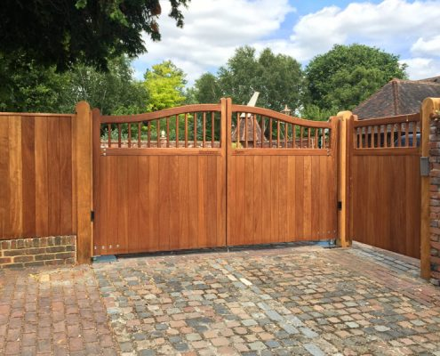 Automated iroko swishtop windsor gates
