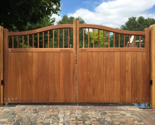 Iroko hardwood swishtop Windsor gates