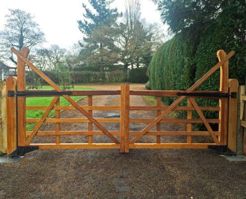 Iroko hardwood yeoman gates