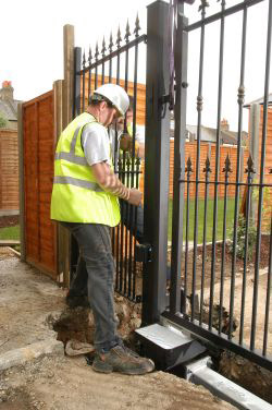 Installing electric gates
