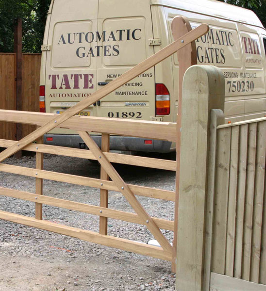 Tate and Tonbridge Automation installing an automated 5 bar gate